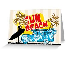 Sun Beach 578 Greeting Card