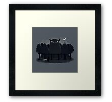 Monster Hunting Framed Print