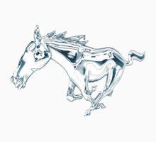 horse, mustang shirt Kids Tee