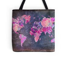 Map Of The World Vintage Tote Bag