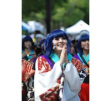 Japanese woman happy in the festival Photographic Print