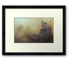 The Wizard in Grey Framed Print