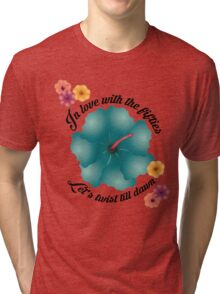In love with the fifties - Lets twist till dawn Tri-blend T-Shirt