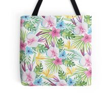 Tropical Vintage Floral Tote Bag
