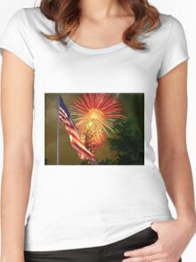 """""""Rumble Over Rough River"""" Women's Fitted Scoop T-Shirt"""