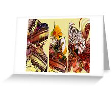 Yellow Flora Water Colour Collage  Greeting Card