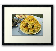 Scrumptious Apple Crumble Cake (Apfel-Streusel-Torte) Framed Print