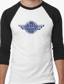 A340 Pilot Men's Baseball ¾ T-Shirt