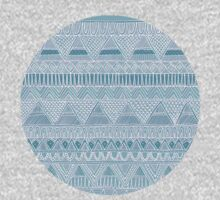 Lacy Blue Aztec Pattern by Stacey Muir