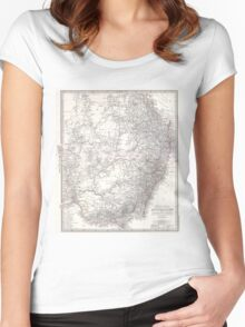 Vintage Map of Eastern Australia (1876) Women's Fitted Scoop T-Shirt