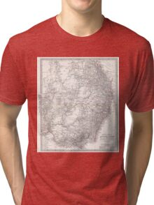 Vintage Map of Eastern Australia (1876) Tri-blend T-Shirt