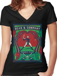 DEAD&COMPANY Boston, IN Women's Fitted V-Neck T-Shirt
