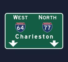 Charleston, Road Sign, SC Kids Tee