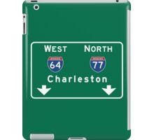 Charleston, Road Sign, SC iPad Case/Skin