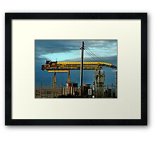Bright Yellow Conveyor Framed Print