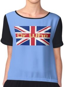 Union Jack Flag - Doctor Who Homage - England Sticker Chiffon Top