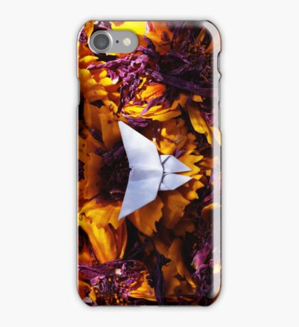 Origami Purple and Yellow Butterfly iPhone Case/Skin