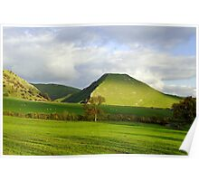 Thorpe Cloud from Bunster Hill Poster