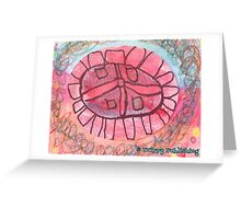 Peace Flower  - by Lola Greeting Card