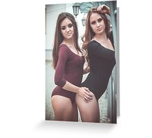 hot womans standing  Greeting Card