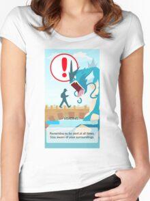 POKEMON GO LOADING SCREEN STUCK Women's Fitted Scoop T-Shirt