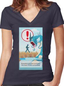 POKEMON GO LOADING SCREEN STUCK Women's Fitted V-Neck T-Shirt