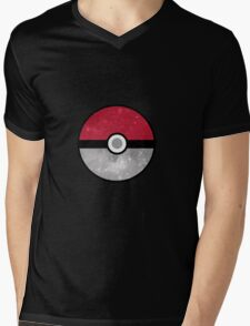 Galaxy Pokemon Pokeball Mens V-Neck T-Shirt