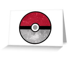 Galaxy Pokemon Pokeball Greeting Card