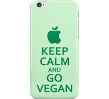 Keep Calm and Go Vegan iPhone Case/Skin