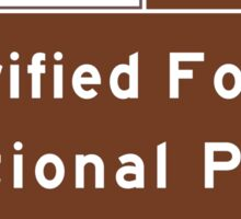 Petrified Forest National Park 1 Mile, Road Sign, AZ Sticker