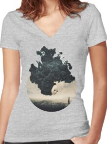The Selfie A Dark Surrealism Women's Fitted V-Neck T-Shirt