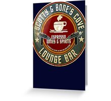 SCOTTY AND BONE'S COVE VINTAGE SIGN Greeting Card