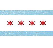 Vintage Chicago Flag Photographic Print