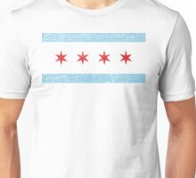 Vintage Chicago Flag Unisex T-Shirt