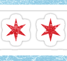Vintage Chicago Flag Sticker