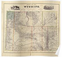 Vintage Map of Wyoming (1883) Poster