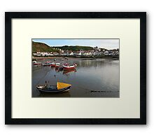 Boats at rest, Staithes Framed Print