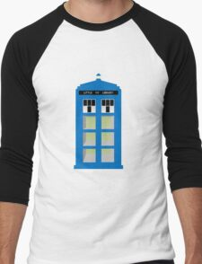 Doctor Who TARDIS little library Men's Baseball ¾ T-Shirt