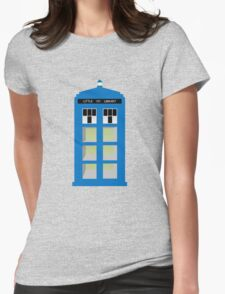 Doctor Who TARDIS little library Womens Fitted T-Shirt