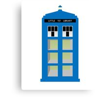 Doctor Who TARDIS little library Canvas Print