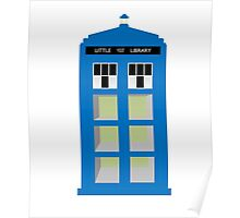Doctor Who TARDIS little library Poster