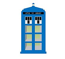Doctor Who TARDIS little library Photographic Print