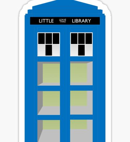 Doctor Who TARDIS little library Sticker