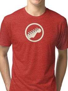 Guitar player white Tri-blend T-Shirt