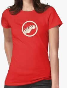 Guitar player white Womens Fitted T-Shirt