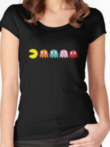Pac Man and Ghosts Women's Fitted Scoop T-Shirt