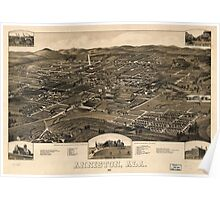 Vintage Pictorial Map of Anniston Alabama (1887) Poster