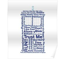 Doctor Who TARDIS quotes Poster