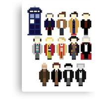 Pixel Doctor Who Regenerations Canvas Print