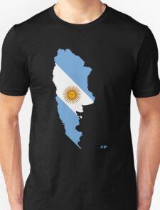 Argentina Flag Map Unisex T-Shirt